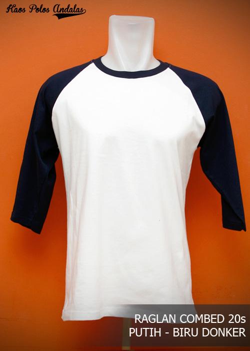Kaos Polos Raglan Shirt Distro Terbaik