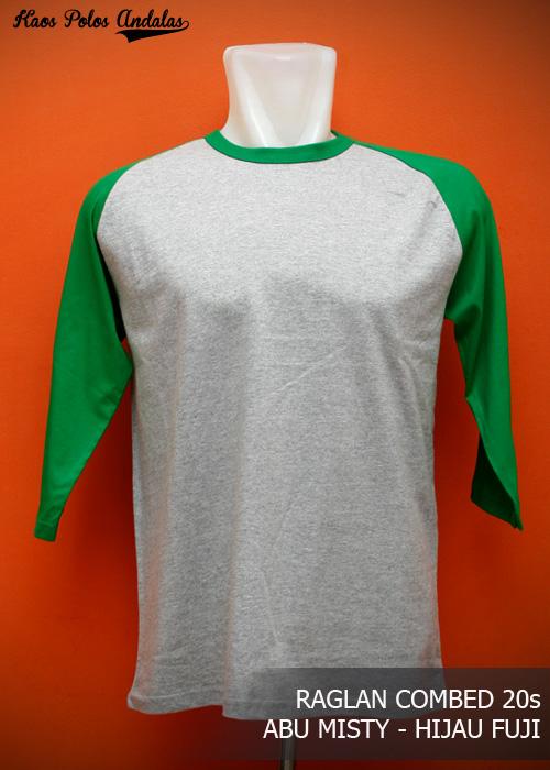 Kaos Polos Raglan Lengan 34 Cotton Combed 20s Grosir Kaos Polos