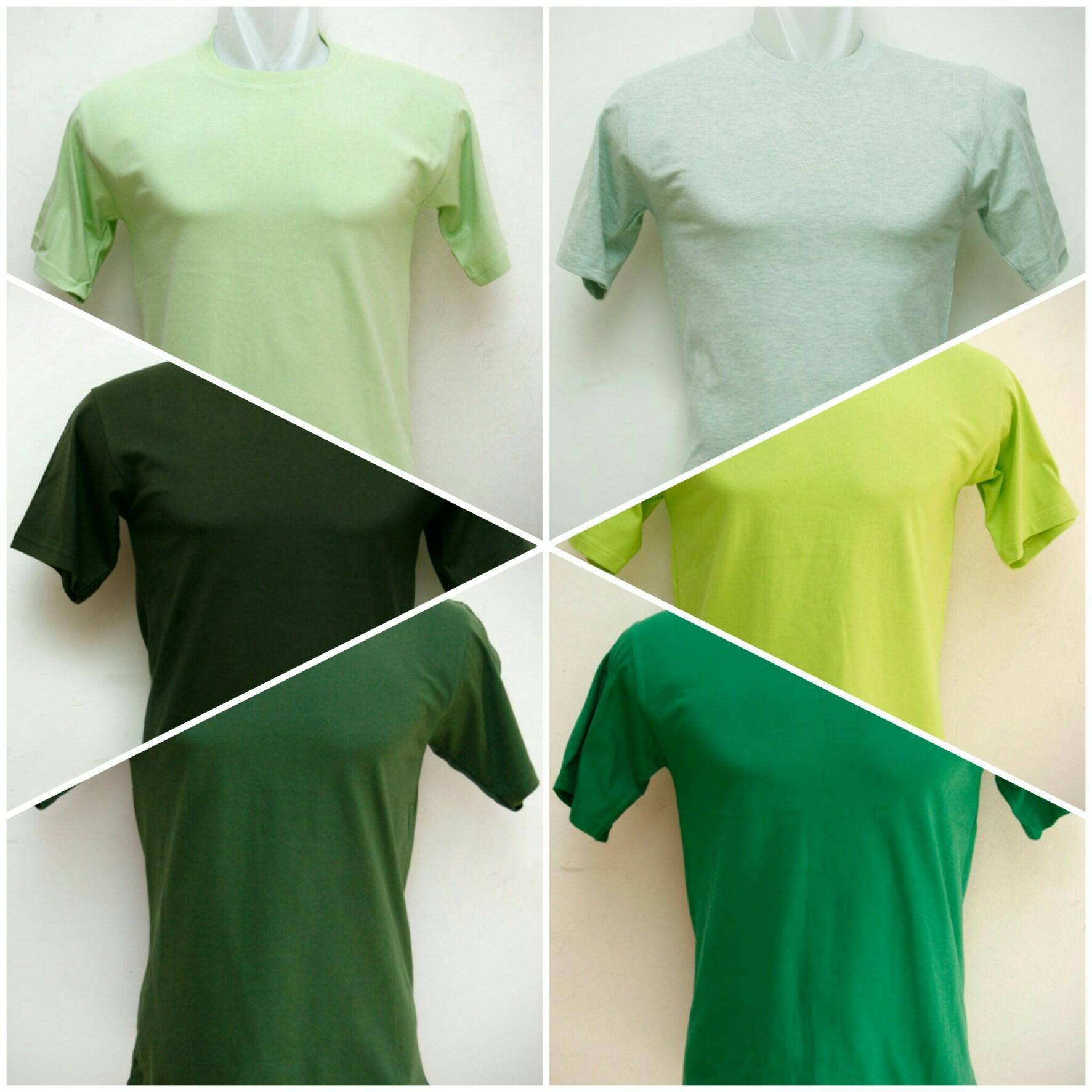 Kaos Polos Hijau Tampil Dalam Nuansa Yang Harmonis Grosir Kaos
