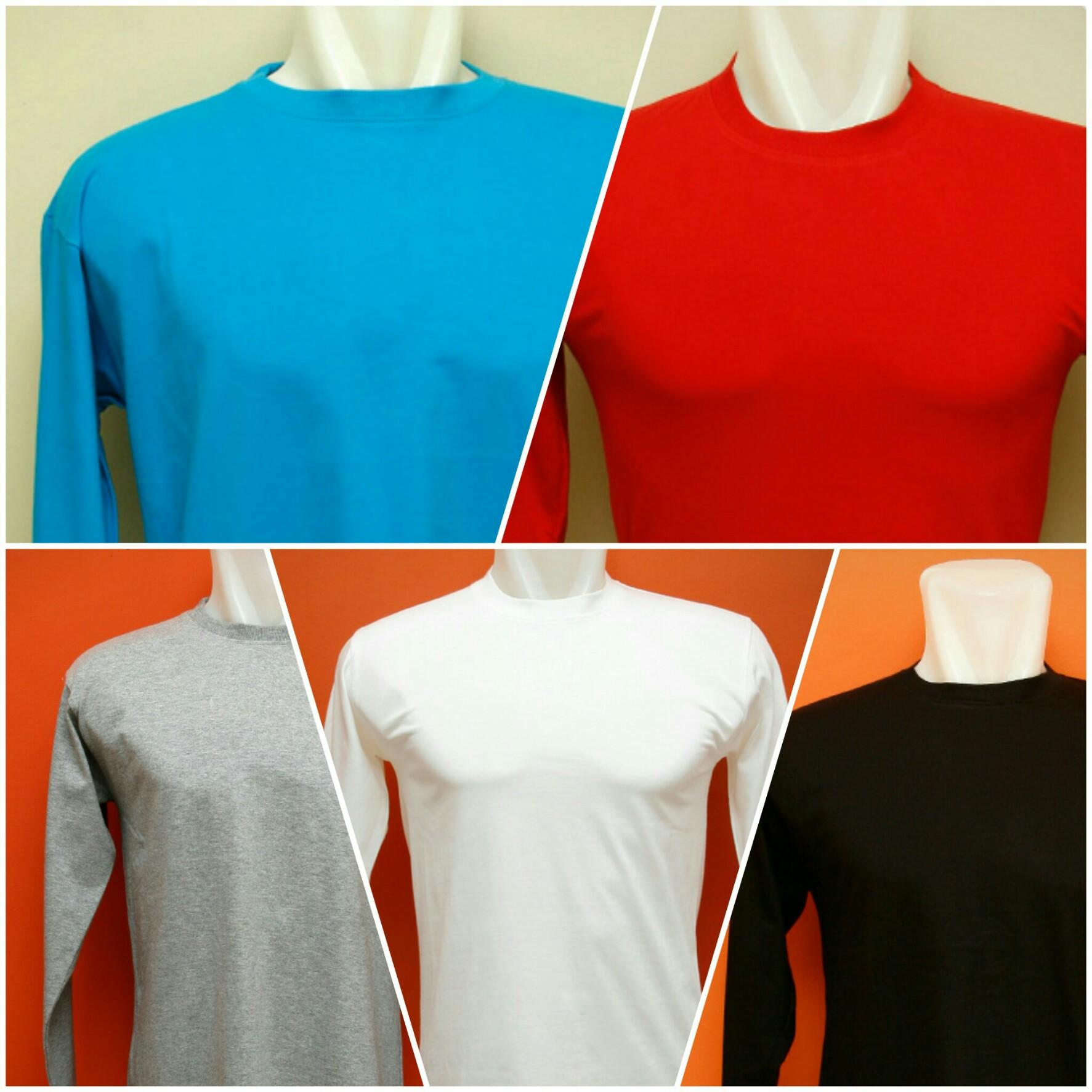 Kaos polos lengan panjang berbahan cotton combed banyak dipilih sebagai  pakaian sehari-hari karena memiliki karakteristik yang adem dan lembut. adba951a6f