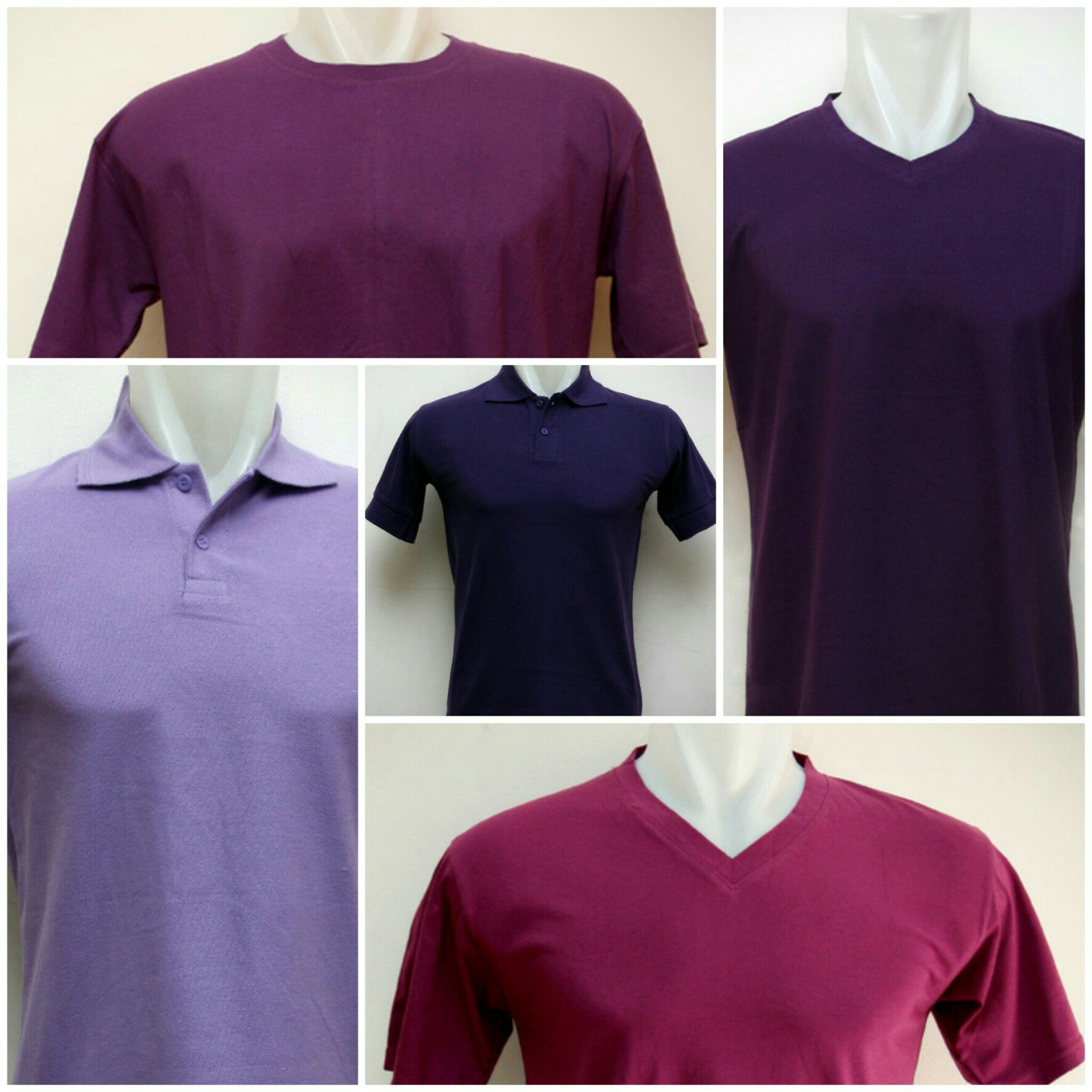 Mengenakan kaos polos warna ungu bagi mereka yang menyukai jenis warna ini tentu akan memberikan rasa percaya diri karena mampu mengekspresikan karakter